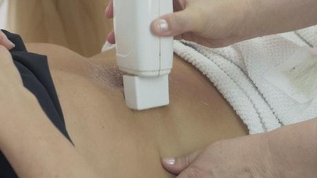 Waxing treatment at a Beauty Salon