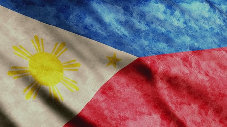 Weathered flag of the Philippines