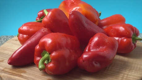 Wet red pepper texture