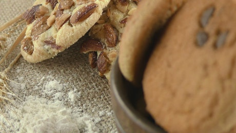 Wheat desserts, close up