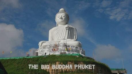 White Buddha monument