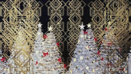White christmas trees concept