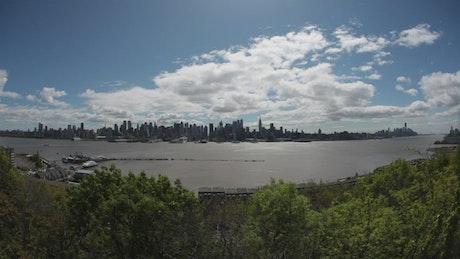 Wide shot of New York