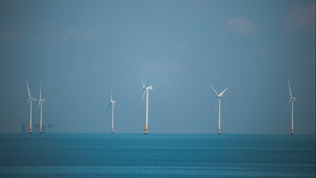 Wind farms out at sea