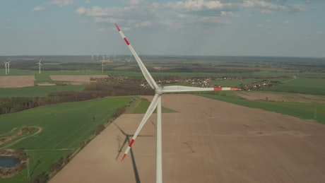 Wind turbine in agriculture fields