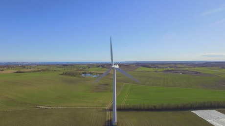 Wind turbine producing energy