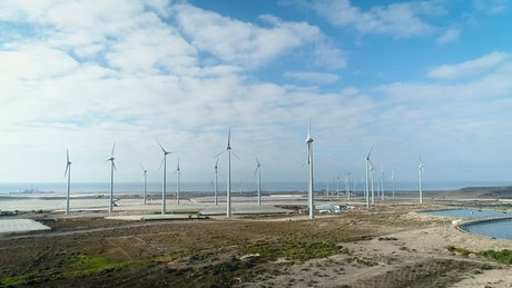Wind turbines stopped