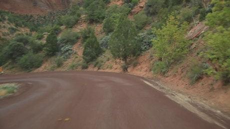 Winding roads through Zion