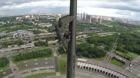 Winged statue in Moscow