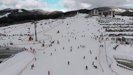 Winter sports resort in the Mountain