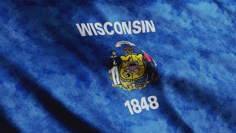 Wisconsin State flag from USA