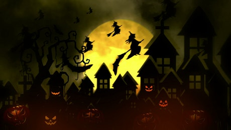Witches on halloween night