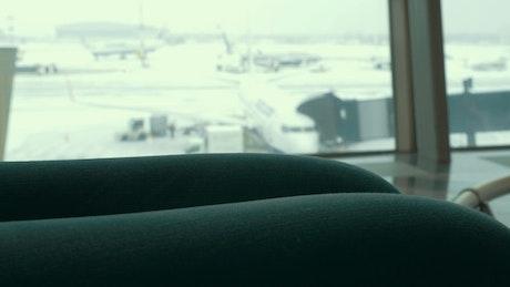 Woman checking her passport