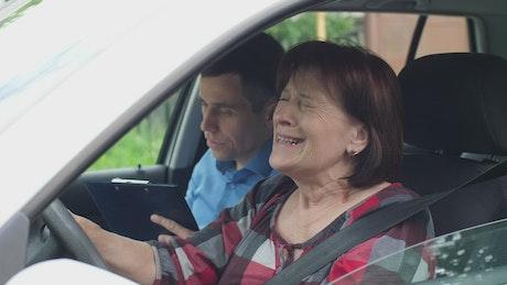 Woman fails driving test