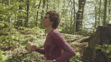 Woman having a run during summer