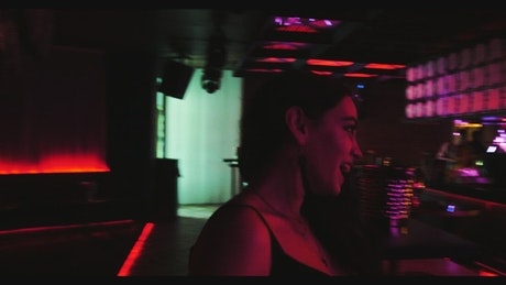 Woman having fun at a nightclub