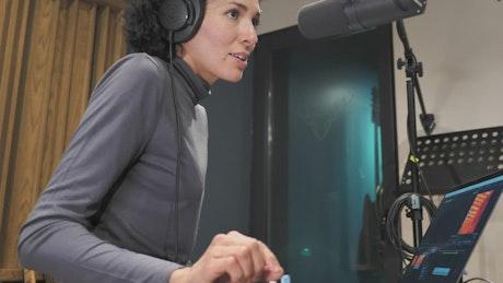 Woman presenter on radio