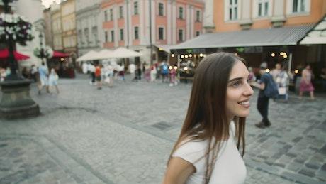 Woman sightseeing