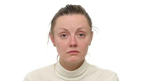 Woman suffering a headache
