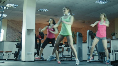 Women doing exercises in the gym