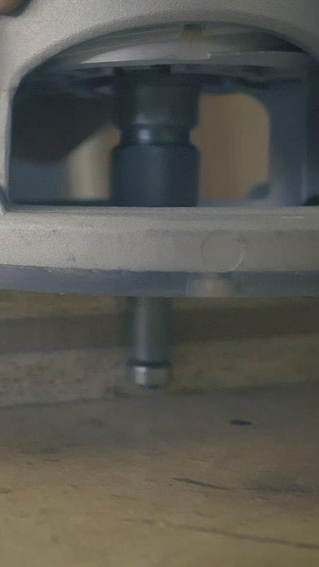 Wood sanding machine working
