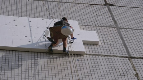 Working in the heights of a building