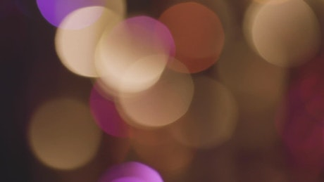 Yellow and pink bokeh effect