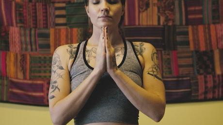 Yoga hand poses