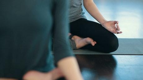 Yogi women meditating