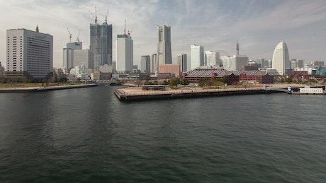 Yokohama cityscape and harbor