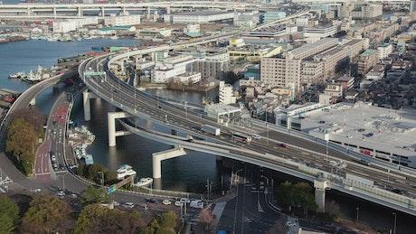 Yokohama cityscape in daytime
