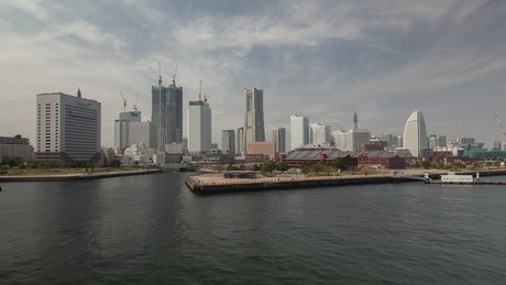 Yokohama skyline and harbor