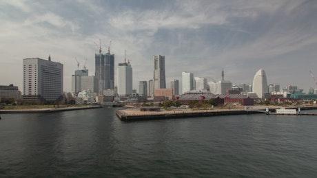 Yokohama skyline and harbor