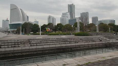 Yokohama skyline time lapse