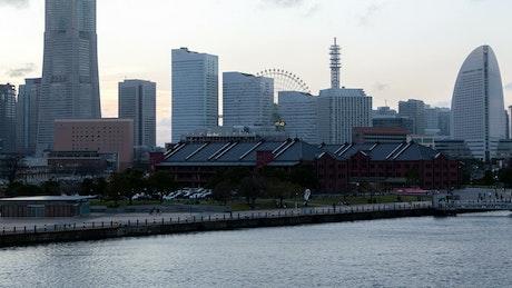 Yokohama skyscrapers time lapse