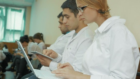 Young Doctors at a conference