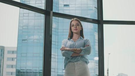 Young entrepreneur posing in a portrait