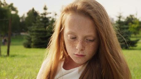 Young girl with hurt feelings
