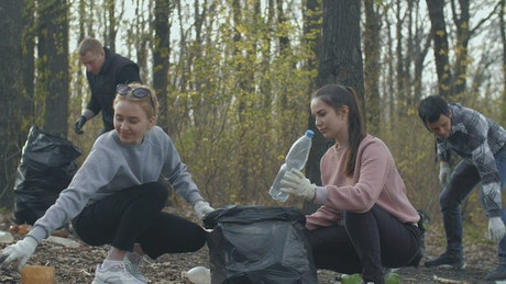 Young volunteers caring for the environment
