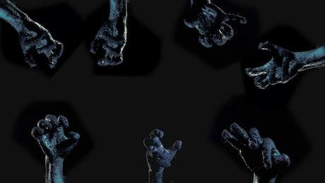 Zombie hands in the dark, title video