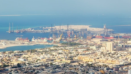 Zooming out of Dubai trading port